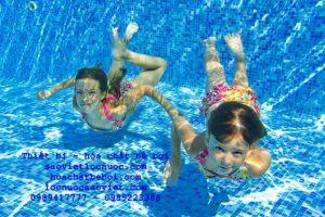 nước bể bơi nồng nặc mùi clo