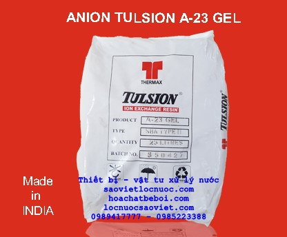 nhua trao doi anion Tulsion A23