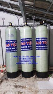 thiết bị lọc nước giếng khoan nhiễm sắt mangan