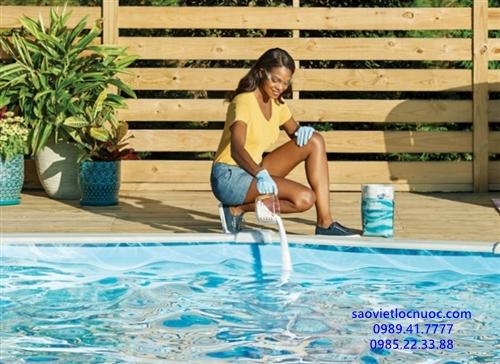 Hướng dẫn sử dụng hóa chất clo bể bơi