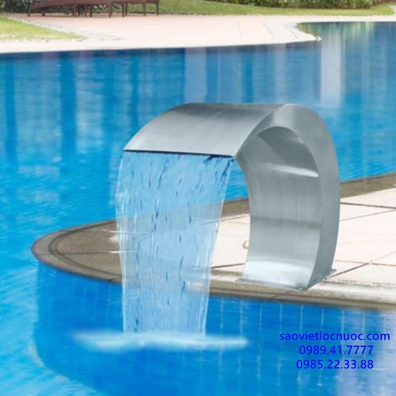 thác nước cong inox kích thước 500 x 350