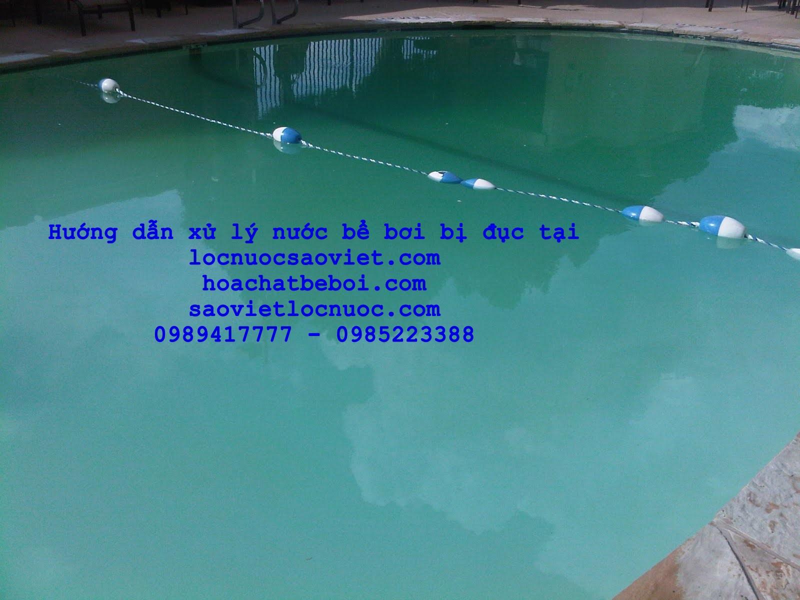 Nước bể bơi bị đục