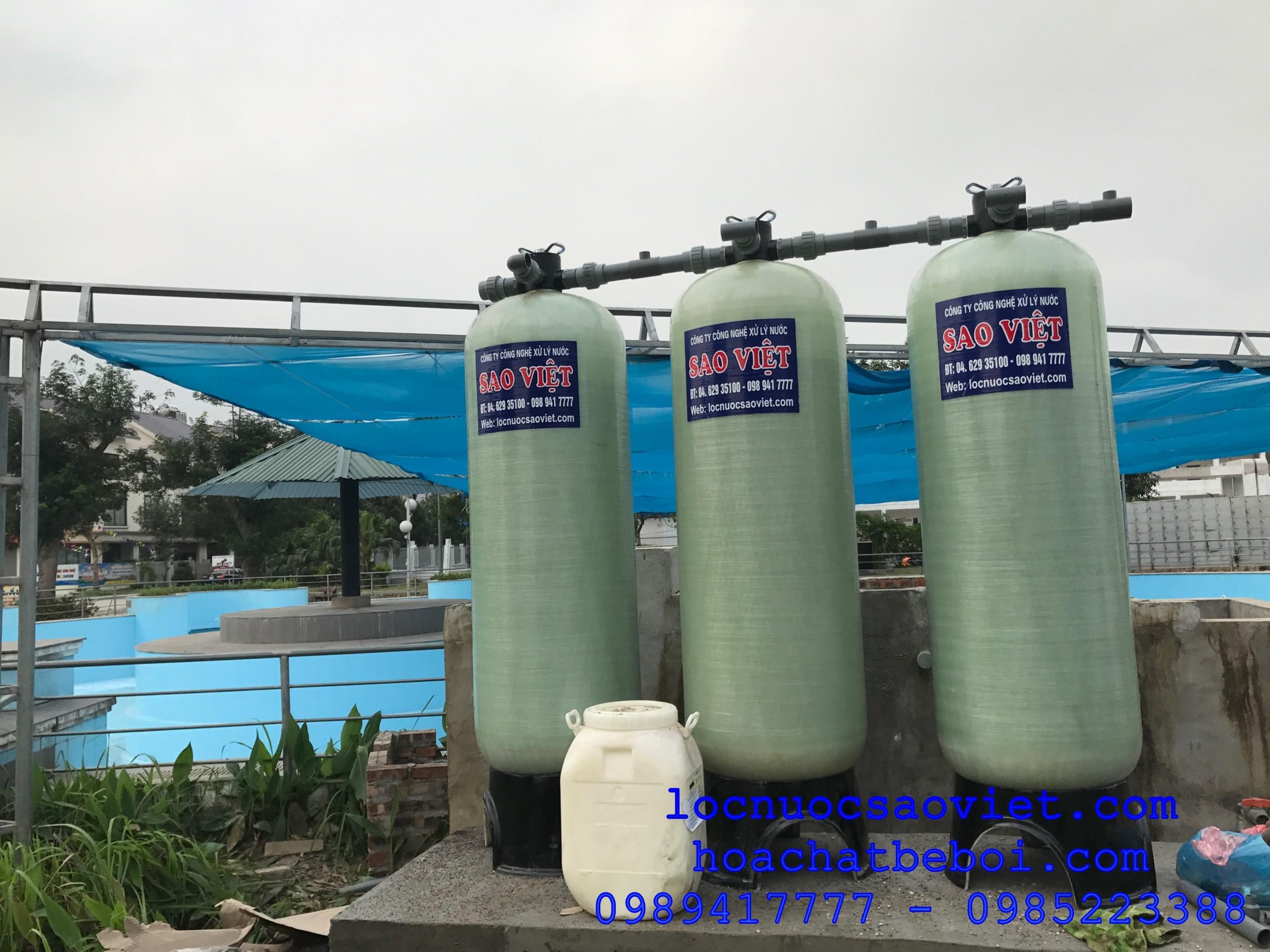 thiết bị lọc nước cấp vào bể bơi