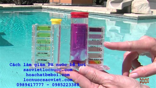 cách làm giảm ph nước bể bơi an toàn không dùng axit