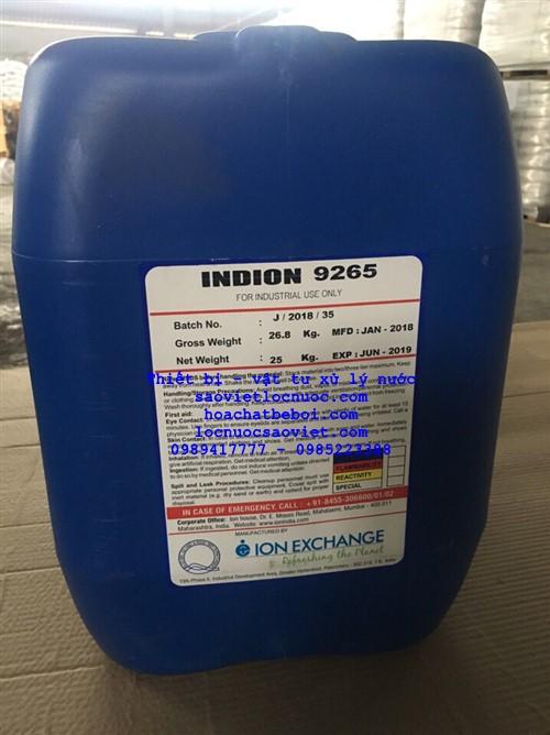 óa chất chống cáu cặn và chống ăn mòn tháp giải nhiệt INDION 9265