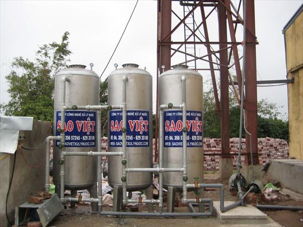 trạm xử lý nước giếng khoan phục vụ sản xuất