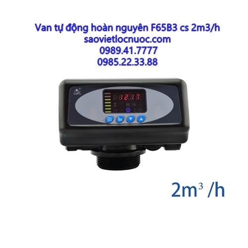 Van tự động hoàn nguyên theo lưu lượng F65B3 dùng cho thiết bị làm mềm nước