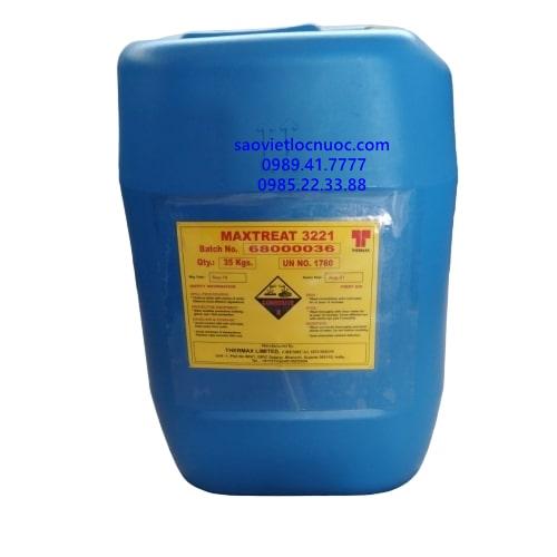 Hóa chất ức chế ăn mòn chống đóng cặn nồi hơi Maxtreat 3221